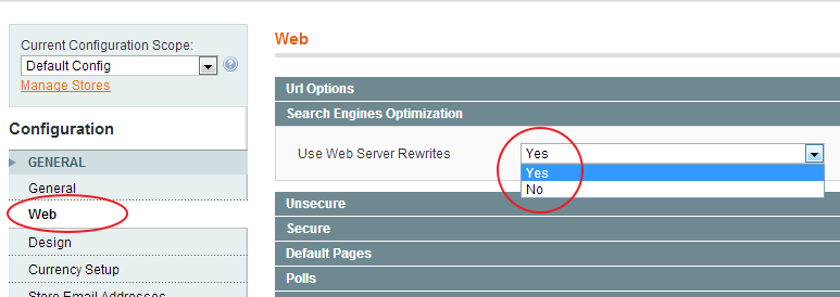 Enable Search Engine Friendly URLs in Magento