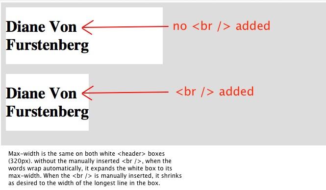 Auto break line in HTML using CSS